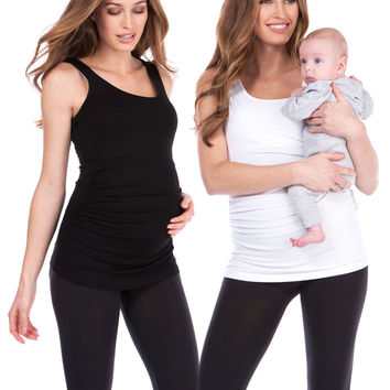 Maternity & Nursing Tank Tops - Twin Pack