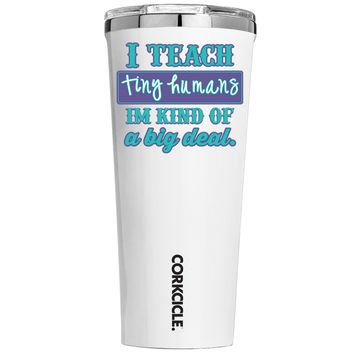 Corkcicle I Teach Tiny Humans on White 24 oz Tumbler Cup