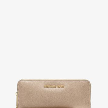 Jet Set Travel Leather Continental Wristlet | Michael Kors