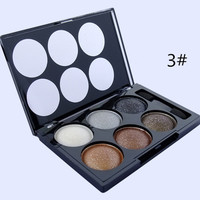 6 Colors Glittery Smoky Eye Shadow Palette