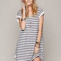 Free People  Striped Short Sleeve Tunic at Free People Clothing Boutique