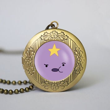 Adventure Time Lumpy Space Princess Necklace Adventure Time Lumpy Space Pendant Adventure Time vintage pendant locket necklace