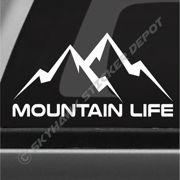 Mountain Life Decal Macbook Sticker Laptop Decal Car Truck Decal Sticker Hiking Outdoor Adventure Decal 4x4 Off Road Decal Fit Jeep Ford