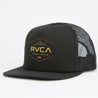 Rvca Industrial Mens Trucker Hat Black One Size For Men 26056610001