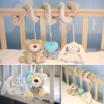 Child Baby Infant Musical Soft Animal Crib Plush toy Developmental Rattle Toy  D_L = 1712904004