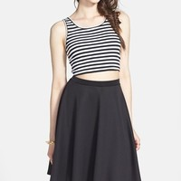 Junior Women's Painted Threads Knit A-Line Skirt (Online Only)