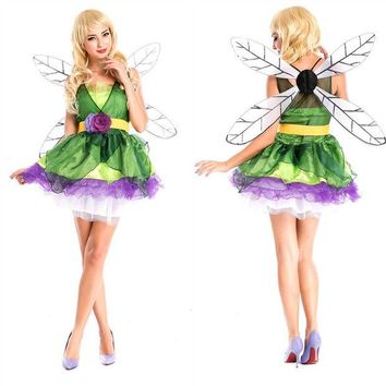 LMFUG3 Elf Cosplay Anime Cosplay Apparel Holloween Costume with Wing [9220298436]