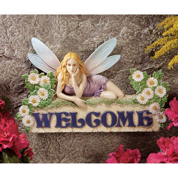 Park Avenue Collection Welcome Fairy Plaque