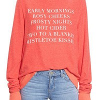 Wildfox 'Baggy Beach Jumper - Holiday List' Pullover | Nordstrom