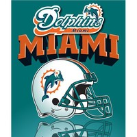 Miami Dolphins Lightweight Rolled Throw Blanket