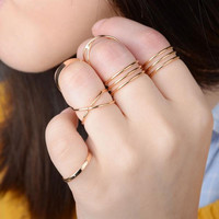 6 Piece Gold Ring Finger Knuckle Set