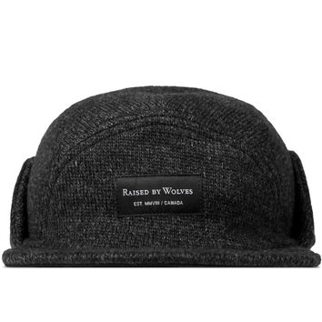 Raised by Wolves Charcoal/Black Skyline Earflap Cap