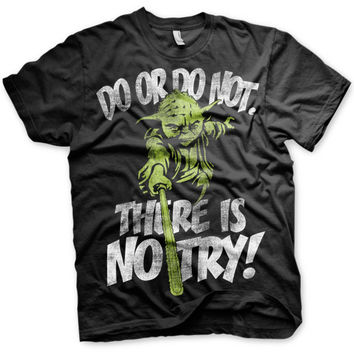 There Is No Try - Yoda T-Shirt (Black)