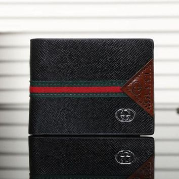 One-nice™ GUCCI Men Leather Purse Wallet I