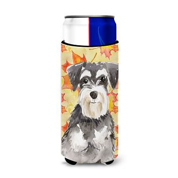 Fall Leaves Schnauzer #2 Michelob Ultra Hugger for slim cans CK1833MUK