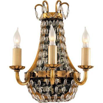 Visual Comfort and Company CHD1409AB-SG Antique Brass Petite Paris Flea Market Light