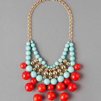 BELLE MEADE BEADED BIB NECKLACE