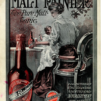 Malt Rainier Beer Ad Seattle Brewing 1909