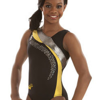 Yellow Accent Leotard by Gabrielle from GK Elite