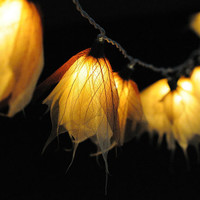 20 light natural romantic leaf string light flower hanging decor rustic winter decor bedroom living room night light romantic