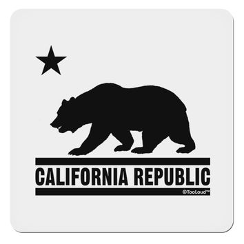 "California Republic Design - Cali Bear 4x4"" Square Sticker by TooLoud"
