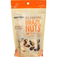 Woodstock Nuts - All Natural - Brazil - Medium - Fancy - Raw - 9 oz - case of 8