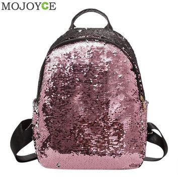 School Backpack trendy Glitter Backpack Women 2018 Summer Sequin Backpacks Teenage Girls Bling Small Back Pack Fashion School Bag Mochilas Ship AT_54_4