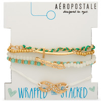 Aeropostale  Wrapped & Stacked Bracelet 5-Pack