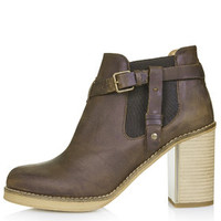 MINE Buckle Ankle Boots - Brown
