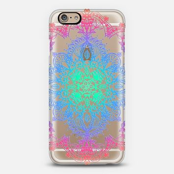 Rainbow Doodle Lace Mandala - transparent iPhone 6 case by Micklyn Le Feuvre   Casetify