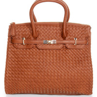 Weave Got your Back Brown Tote by Urban Expressions