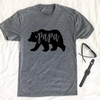 Papa Bear Gray T-Shirt