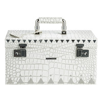 Eddie Borgo Embossed White Crocodile Jewelry Box - ShopBAZAAR