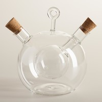 Glass Oil and Vinegar Globe Set
