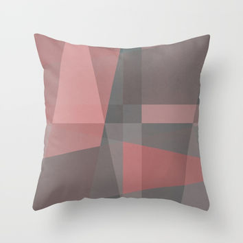 The Clearest Line XI Throw Pillow by Metron