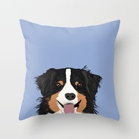Australian Shepherd cute pastel aussie owner gifts must haves for dog person customized pet portrait Throw Pillow by PetFriendly