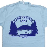 Camp Crystal Lake T Shirt Friday the 13th T Shirt Cult Horror Movie T Shirt