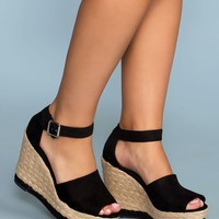Niki Wedges - Black
