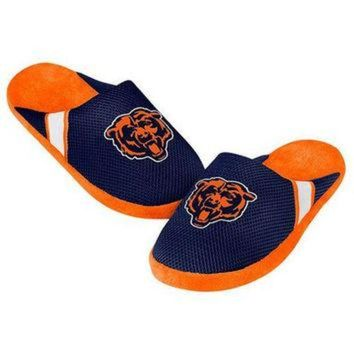 ONETOW CHICAGO BEARS MEN'S OFFICIAL NFL JERSEY SLIPPERS