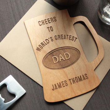 Father's Day Wood Card - Unique Father's Day Greeting Cards