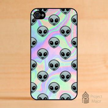 Alien Emoji Hologram Holographic *Style Case Cover for Apple iPhone 4 / 4S