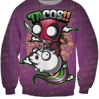 Tacos and Unicorns Crewneck Sweatshirt