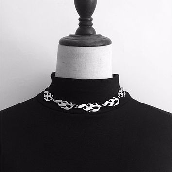 Stainless Steel FLAME choker