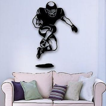 Wall Stickers Vinyl Decal American Football Player for Sports Fans Unique Gift (ig936)