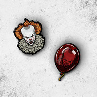 Pennywise Penny Wise Dancing Clown Red Balloon PIN - Horror movie, Halloween, pin collector , comic con, mask, IT, Stephen King, clown scary