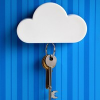 Novelty Cloud Shape Magnetic Magnets Key Holder Home White (Size: 10cm by 3cm by 6cm, Color: White)