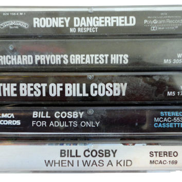 COMEDY cassette tape LoT vintage comedy collection Bill Cosby Richard Pryor Rodney Dangerfield
