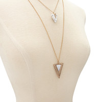Triangle Pendant Necklace Set
