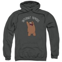 We Bare Bears Internet Famous Adult Charcoal Hoodie | CartoonNetworkShop.com