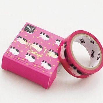 Hot Pink Cat Washi Tape